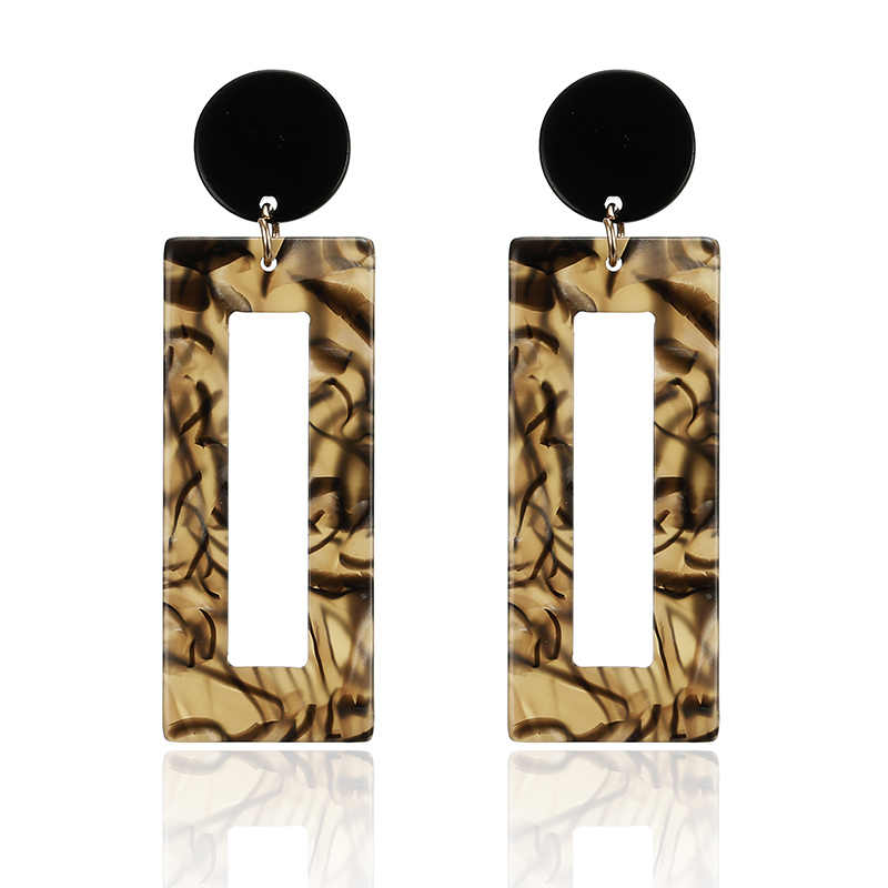 Korean Square Acrylic Drop Earrings For Girls Vintage Acetic Acid Dangle Earrings For Women Jewelry Wholesale Christams Gift