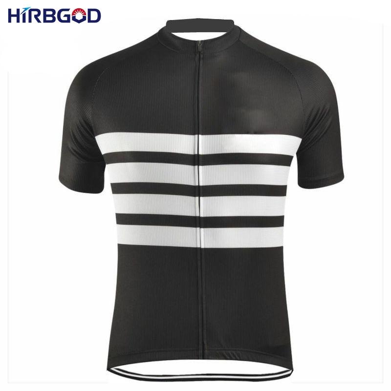 HIRBGOD 2017 Άνδρες μαύρο άσπρο λωρίδα - Ποδηλασία - Φωτογραφία 1