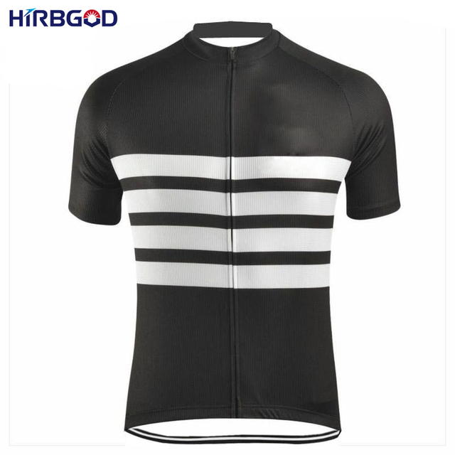5bd1b4b25 HIRBGOD 2017 Men Black White Stripe Cycling Jersey Summer Short Sleeve  Retro Bicycle MTB Bike Clothes Breathable Wear Top