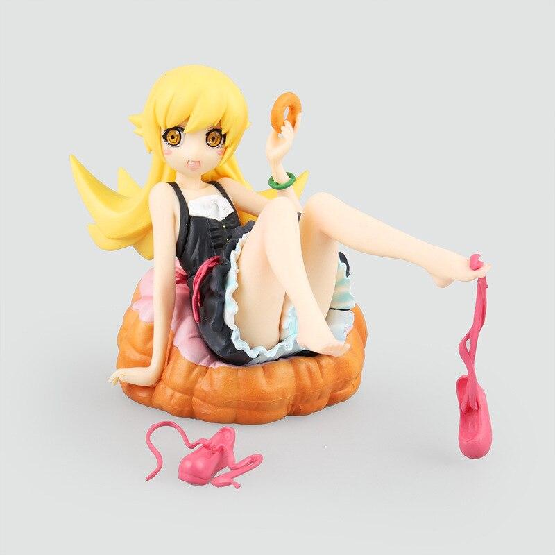 Anime <font><b>Figure</b></font> 12 CM Nisemonogatar Oshino Shinobu 1/8 scale painted cute donut <font><b>shape</b></font> Ver. <font><b>PVC</b></font> <font><b>Action</b></font> <font><b>Figure</b></font> Collectible Model Toys