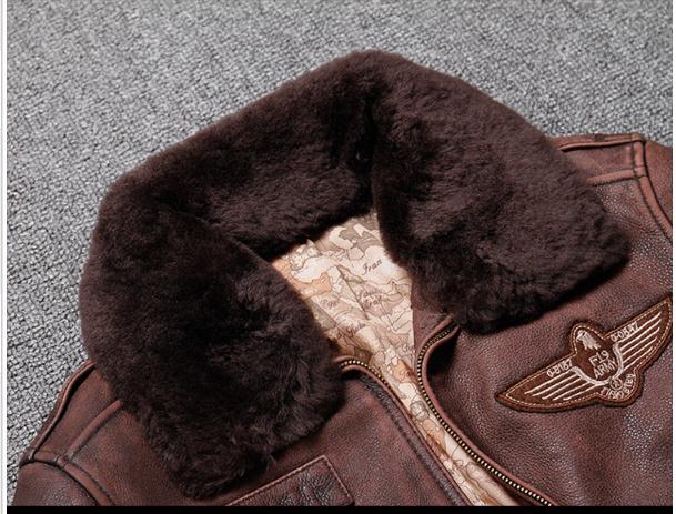 HTB1SKBgXJfvK1RjSszhq6AcGFXae Brand new winter warm.Classic G1 style mens leather jacket,vintage cowhide Jackets,man genuine leather coat