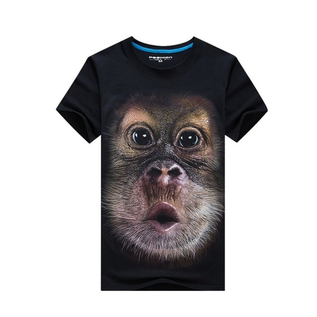 b1e05235605 6XL Funny 3D printed mens t shirt 2018 summer male Animal Monkey pattern tshirt  Short Sleeve Casual Tops Tees clothing plus size