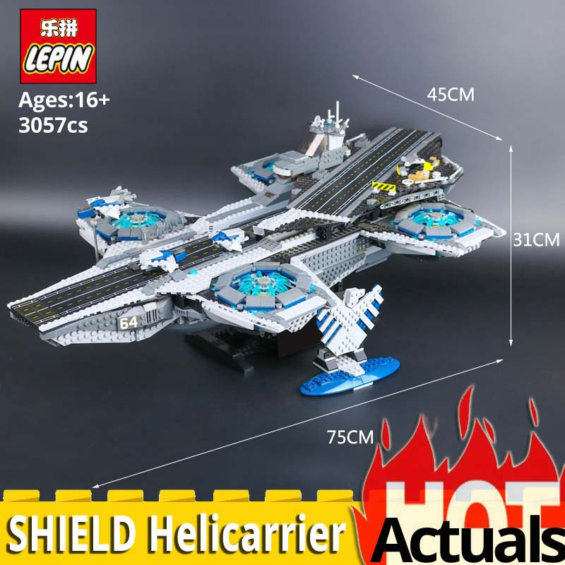 LEPIN marvel super heroes 07043 SHIELD Helicarrier Set Building Blocks Bricks Toys Kids Christmas Gift legoINGlys 76042 3057PCS single sale super heroes gi joe series matt with junkyard dog firefly snow job power girl building blocks kids gift toys kf6028
