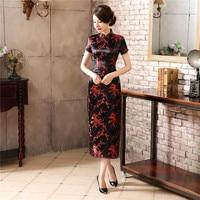Traditional Chinese Style Dress Women S Long Cheongsam Elegant Slim Qipao Clothing Plus Size S M
