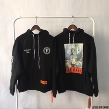 17FW Heron Preston DSNY Uniform Women Men Printed Hoodies Pullover Best Qulity 1:1 Heron Hiphop Hoodies Sweatshirts Streetwear(China)