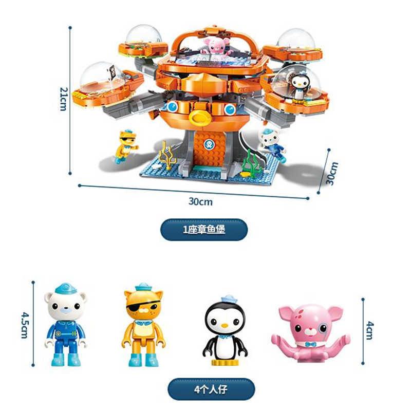 Enleten Creator Ideas город ле Осьминог Октонавты мультфильм строительные блоки модельные наборы детские игрушки Совместимые Legoings Duplo
