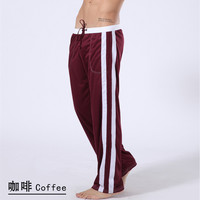 Free Shipping Men S Sports Trousers Solid Color Health Pants Lacing Elastic Thin Autumn Pants 6