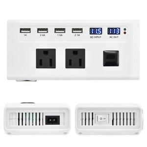 Image 1 - Универсальный 200 Вт Инвертор 12 В до 110 В 220 В автомобильный инвертор прикуриватель 12 В 220 В инвертор с 4 портами USB