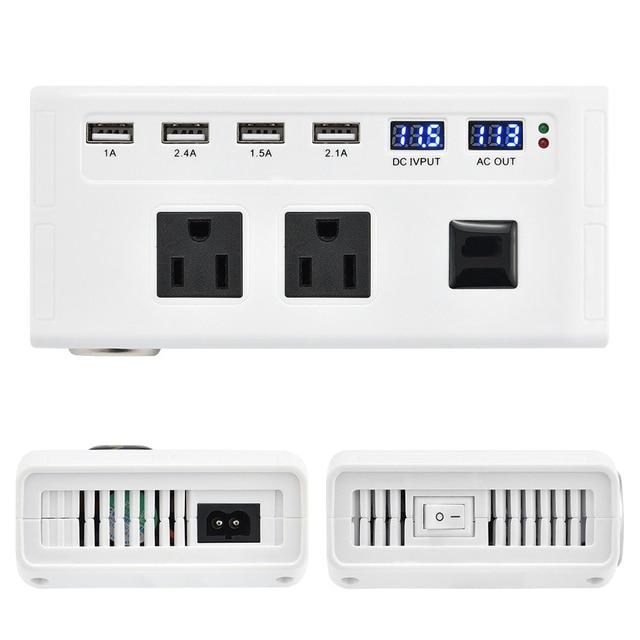 Универсальный 200 Вт Инвертор 12 В до 110 В 220 В автомобильный инвертор прикуриватель 12 В 220 В инвертор с 4 портами USB