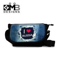 Dispalang Grote Messenger Bag I liefde Rusland Cross body Tas Voor Vrouwen Mannen Reizen Messenger-tas Denim Print Schouder tassen