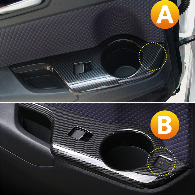 Car Interior Door Armrest Panel Window Switch Lift Buttons Cover Trim Stickers for Toyota C-HR CHR 2016 2017 2018 2019 Accessory