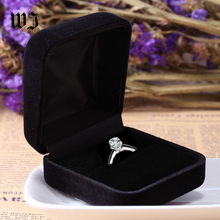 Engagement Black Velvet Ring Jewelry Display Storage Box Foldable Case For Wedding Valentine's Day Gift Organizer