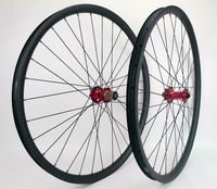 29er горные велосипеды карбоновые колеса 30 мм ширина 24 мм Глубина бескамерные MTB XC карбоновая колесная с 12 матовой отделкой, novatec791/792 концентра