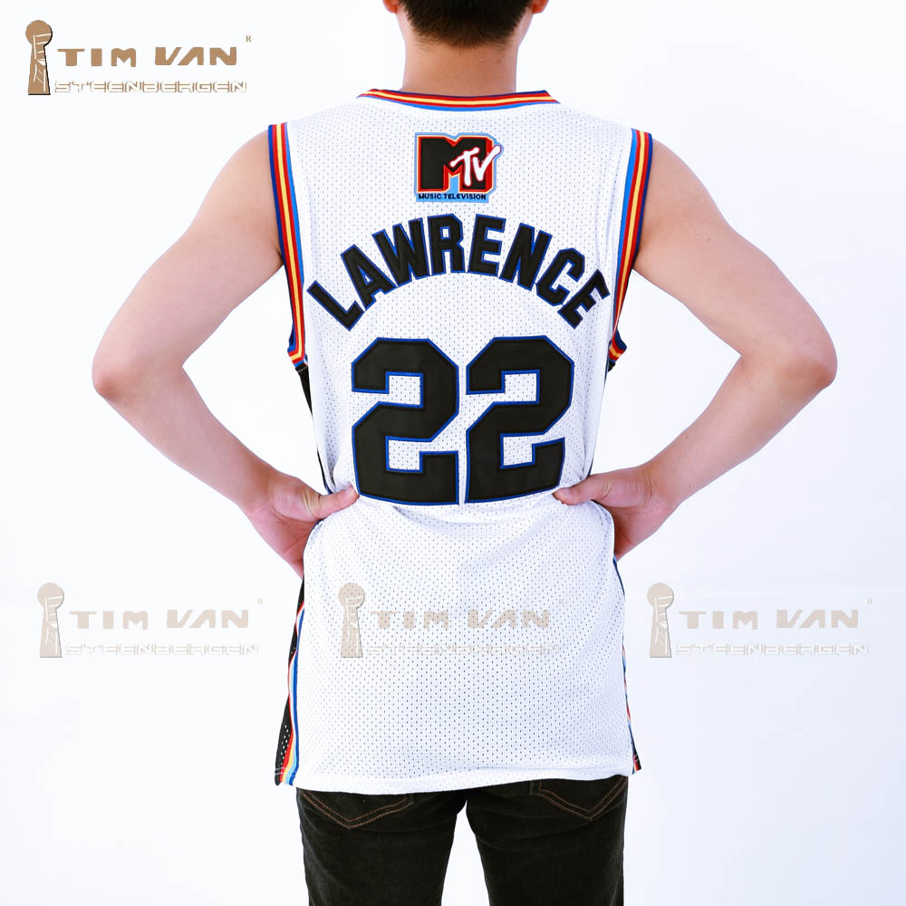 886cc4a0ca4 TIM VAN STEENBERGE Lawrence 22 Bricklayers Basketball Jersey Sixth Annual  Rock N' Jock B Ball Jam 1996 White-in Basketball Jerseys from Sports ...