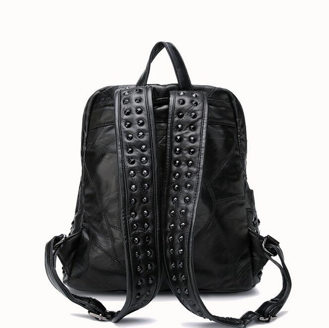 Newhotstacy sac 09200517 femmes nouvelle mode double sac à bandoulière étudiant livre sac à dos - 3