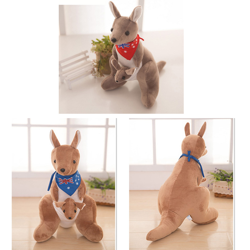25 cm Nova plišana lutka kenguru za božično darilo za otroške igrače