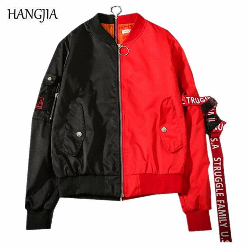 Vert Baseball Japonais Vêtements Banderoles Hip Automne Personnalité hop Nouvelle Couleur rouge hangjia Manteau Harajuku Jeunes Marée Hommes Sort Veste wXPTHgq