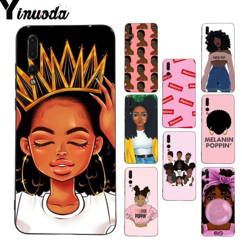 Clothing, Shoes & Accessories Yinuoda Melanin Poppin Aba Queen Black Girl Phone Case For Huawei P9 P10 Plus Mate9 10 Mate10 Lite P20 Pro Honor10 View10 Diversified Latest Designs