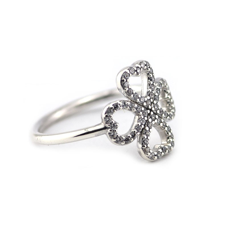 Compatible With European Style Jewelry 100% 925 Sterling Silver Rings Petals of Love Authentic Original