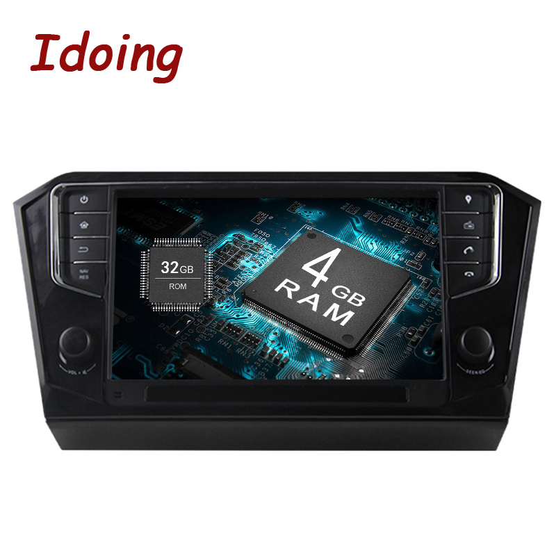 Idoing 1Din Android 8.0 Car Radio Multimedia Video Player For Volkswagen Passat 2016 8Core 4G+32G GPS Navigation Bluetooth WIFI
