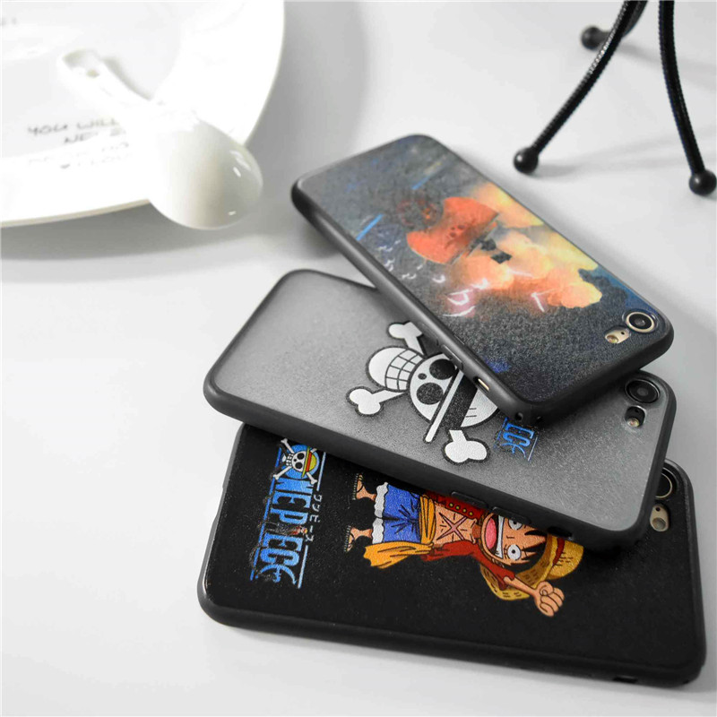 one piece luffy straw hat pirates hard cover case for iphone 5s se 6 6s plus 7 7 plus anime. Black Bedroom Furniture Sets. Home Design Ideas