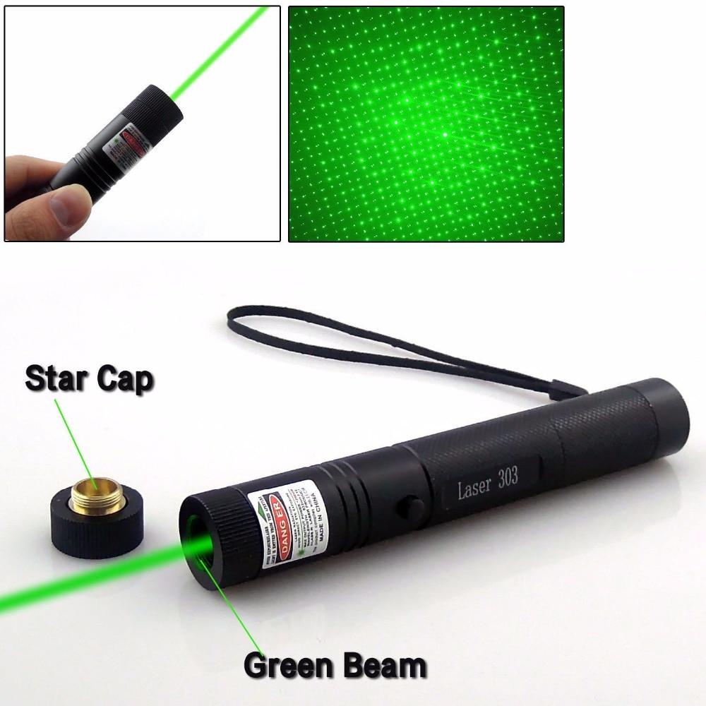 Leistungsstarker Laser-Zeigervisier 532nm Grüne Farbe Verde Zielfernrohr Astro Puntero CNC Lazer Fixer Fokus Mit 18650 Batterie