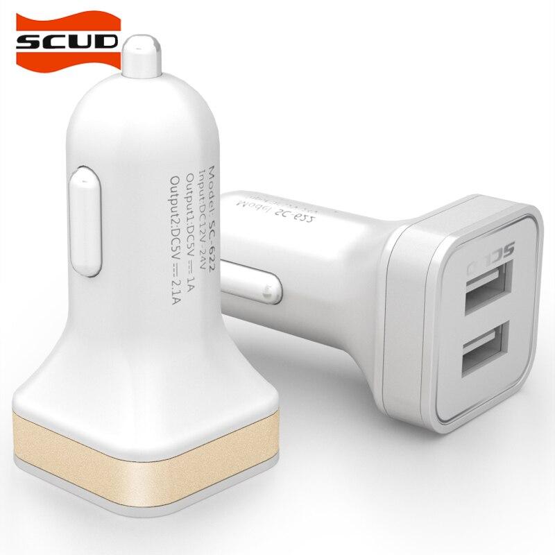 Scud 2 Port Mobil Pengisi Daya, Ganda Ganda Usb Port Adaptor untuk Ponsel/Xiaomi, Samsung, HTC, huawei SC-622-Internasional