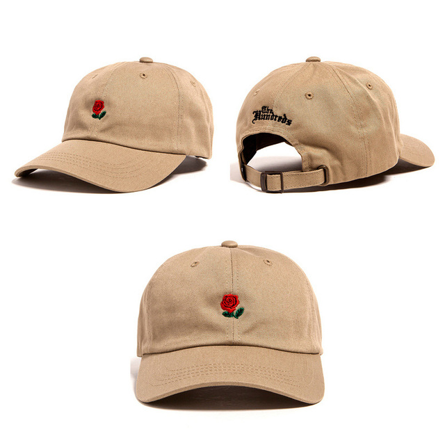 New Rose Baseball Caps Women Snapback Cap Flower Summer Embroidery Curved Spring Snapback Caps Men Trapback Hip Hop Hats Bone
