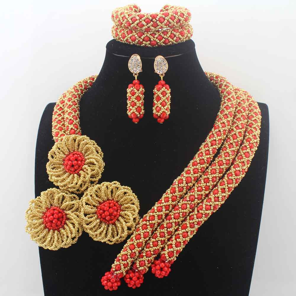 Fashion New African Crystal Wedding Beads Jewelry Set /Red Indian Handmade Jewelry Bridemaid Jewelry Set Free Shipping HD8591Fashion New African Crystal Wedding Beads Jewelry Set /Red Indian Handmade Jewelry Bridemaid Jewelry Set Free Shipping HD8591