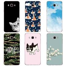 Sky Soft Clear TPU Phone Case For Samsung J3 J5 J7 S6 S7 S8 note8 A3 A5 C7 J2prime Cat Dog Printed Shell Cover Free Shipping(China)