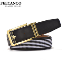 FEECANOO Casual Patchwork Men Belts Luxury Women Fashion Belt Trends Trousers With 6 Styles Color To