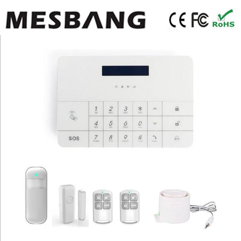 Système d'alarme GSM standard à écran tactile de sécurité avec contrôle d'application mobile livraison gratuite