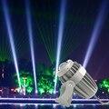 Um feixe de luz levou holofotes 10 w ac85-265 pilares de luz holofote ao ar livre à prova d' água luz laser iluminação de construção Exterior