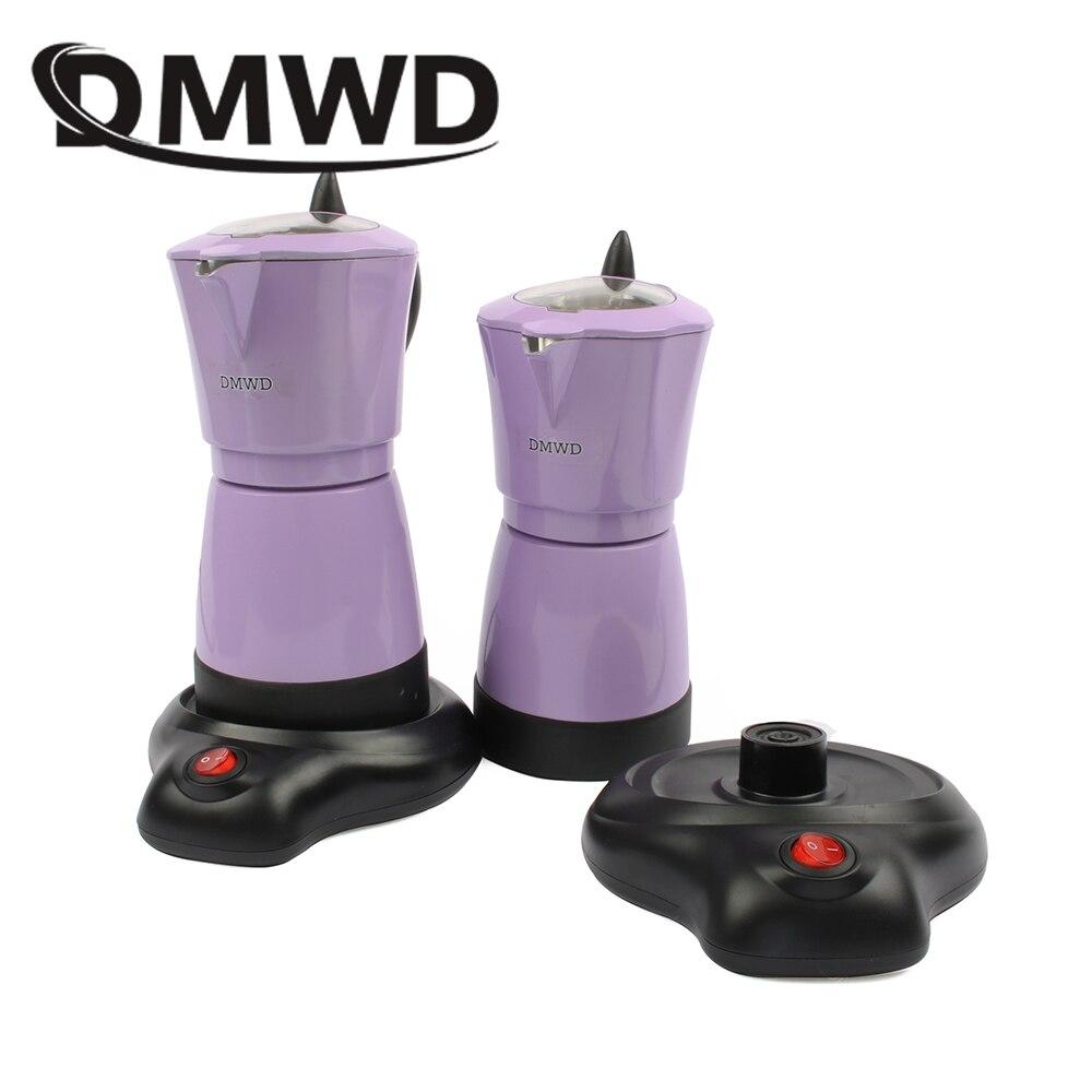 DMWD Household automatic Aluminum 6 cups Italian Stove top Moka espresso pot electric stovetop coffee maker 110V 220V EU US plug
