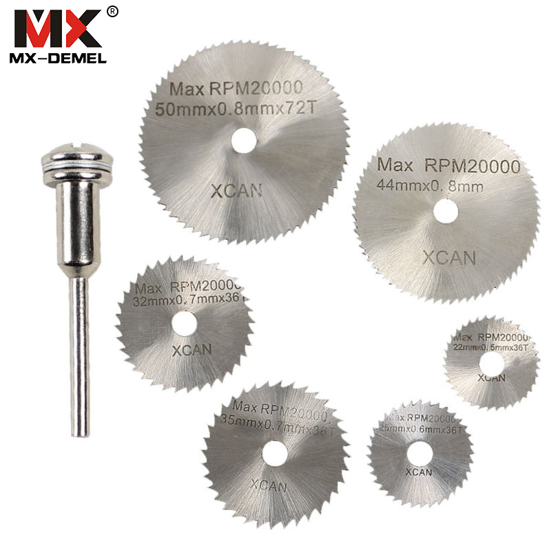 MX-DEMEL 6 Pieces HSS Saw Blades For Dremel Ratory Tools Mini Drill Chuck Dremel Tools Dremel Accessories Herramientas mx demel high quality 17pcs 1 2 felt polishing wheels dremel accessories fits for dremel rotary tools dremel tools small