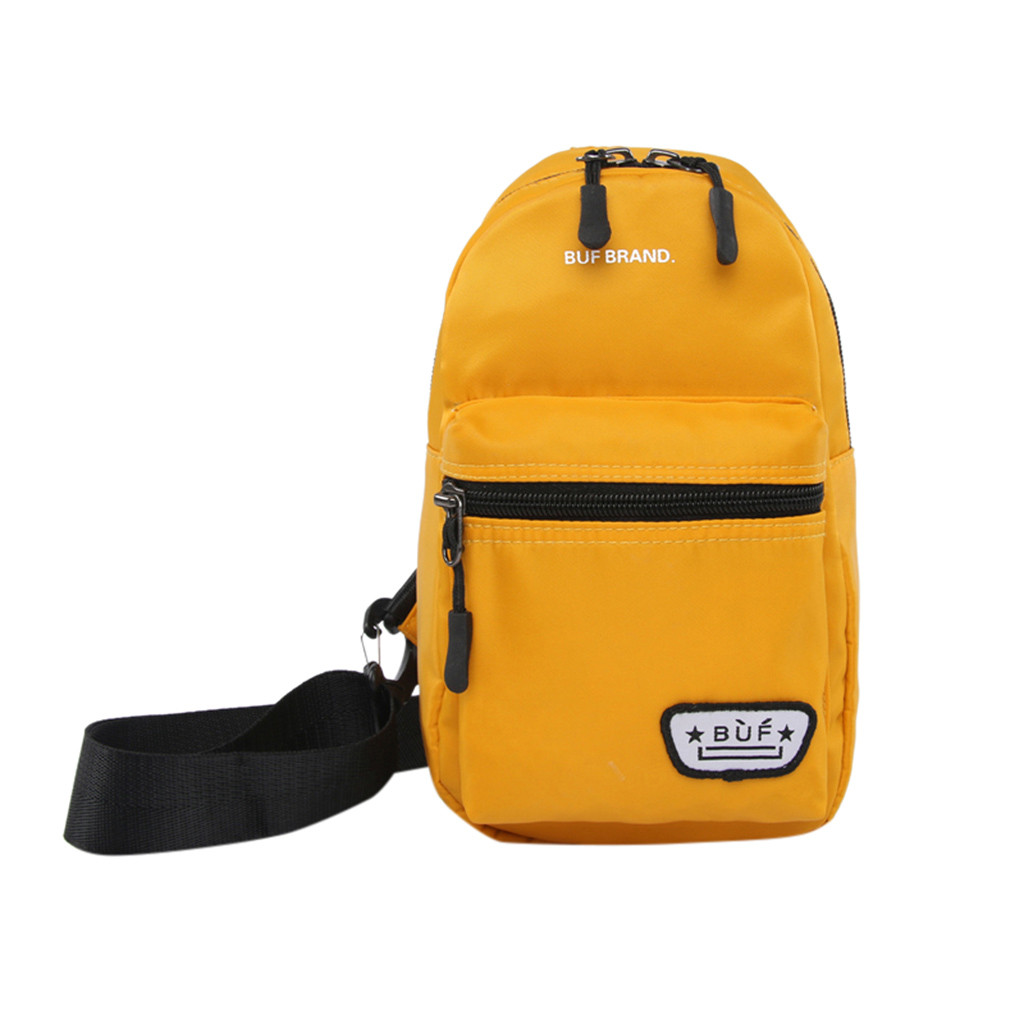 yellow men's bag over the shoulder fashion Male Messenger Bag Sports Outdoor Leisure Bag Student Bag Travel Breast Bag #4gh(China)