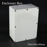 1 Piece Lot 320x240x140mm Grey ABS Plastic IP65 Waterproof Enclosure PVC Junction Box Electronic Project