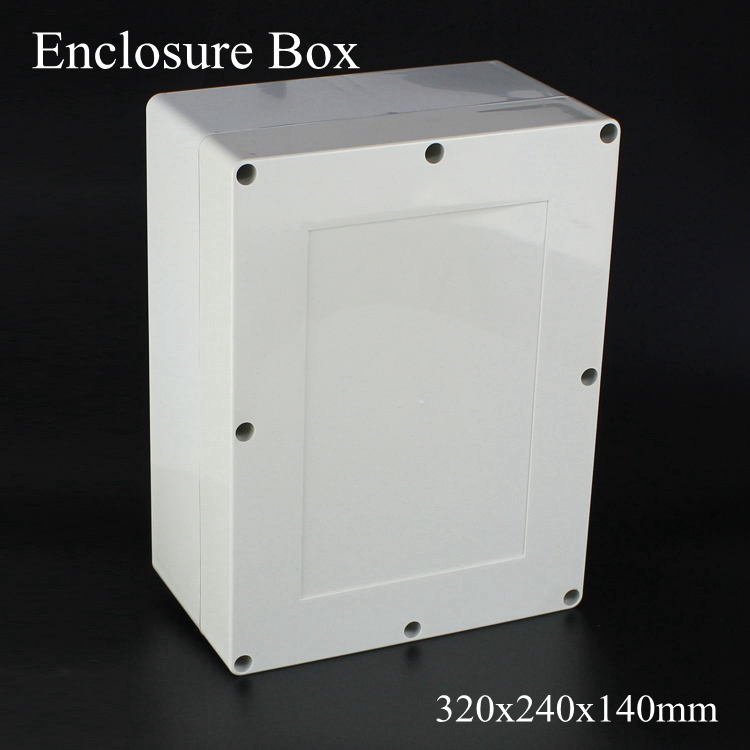 (1 piece/lot) 320x240x140mm Grey ABS Plastic IP65 Waterproof Enclosure PVC Junction Box Electronic Project Instrument Case цена