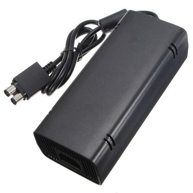 Горячие Продажа Черный 135 Вт 12 В Обязанность Переходники AC Зарядки Зарядное Устройство Питания Шнур питания Кабель для Microsoft для Xbox 360 Slim Бесплатная Доставка