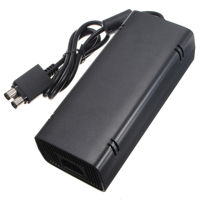 Hot Sale Black 135W 12V AC Adapter Charge Charging Charger Power Supply Cord Cable for Microsoft for Xbox 360 Slim Free Shipping