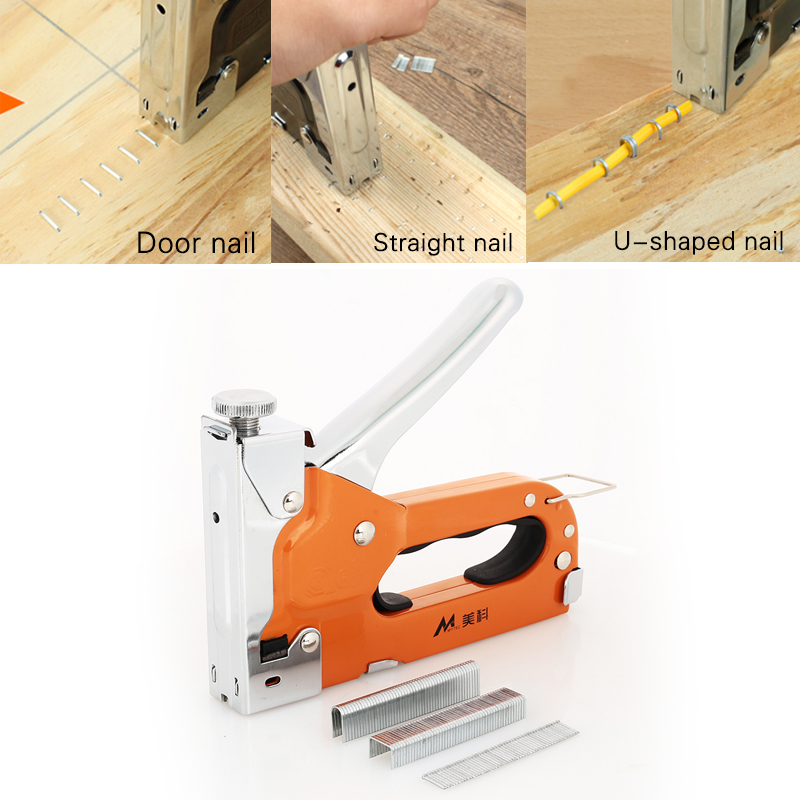 2019 Door Nailer Metal Doornail Nail Staple Gun Updated Home Improvement Nailers Rivet Tool For Wood Dowel Drop Shipping