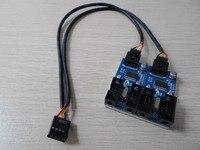 PC Case Internal 9Pin USB 2 0 1 To 2 Splitter Chipset Enhanced Extender