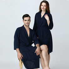 a568a888e5 Men Women Summer Kimono Bath Robe Suck Water Mens Dressing Gown Sexy  Knitted Waffle Spa Robes