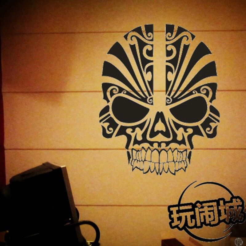 Customize Skull Gl Pattern Decals Sticker Wall Decor For Pub Bar Billiards Ktv 22 Colors Choose
