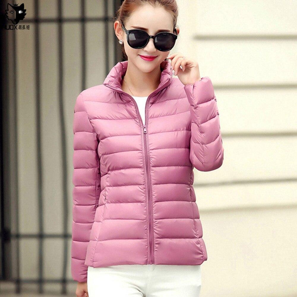 HUOX 2016 Yeni Varış Standı Yaka Ördek Aşağı Palto Kadın Sonbahar Kış Kısa Ince Aşağı Ceket Kore Tarzı Büyük Boy Coats