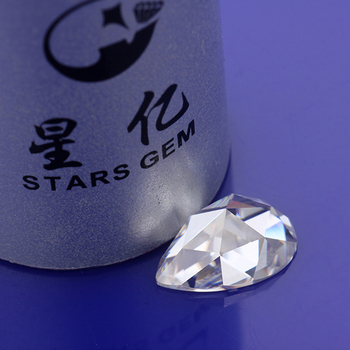 Pear shape rose cut 7*5mm moissanites loose gems stones for jewelry making
