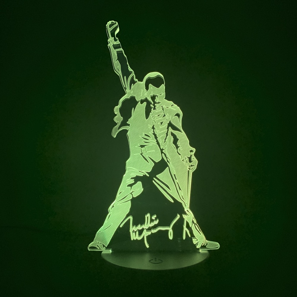 3d Lamp Queen Freddie Mercury Figure Led Night Light Touch Sensor Baby Kids Nightlight For Office Room Decorative Lamp 3d Gift