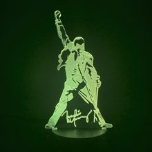 3D โคมไฟ Queen Freddie MERCURY รูป LED Night Light TOUCH SENSOR (China)