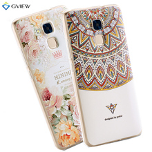 3D Relief Print Transparent Soft TPU Back Cover Case For Huawei Honor 5C Honor 7 lite Huawei GT3 Phone Bag Coque Hot New Style