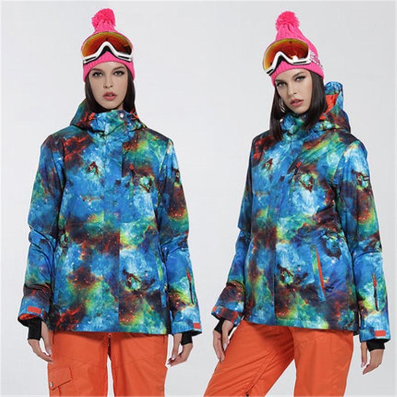Marca mujer chaqueta de esquí Gsou Nieve snowboard chaqueta impermeable de esquí